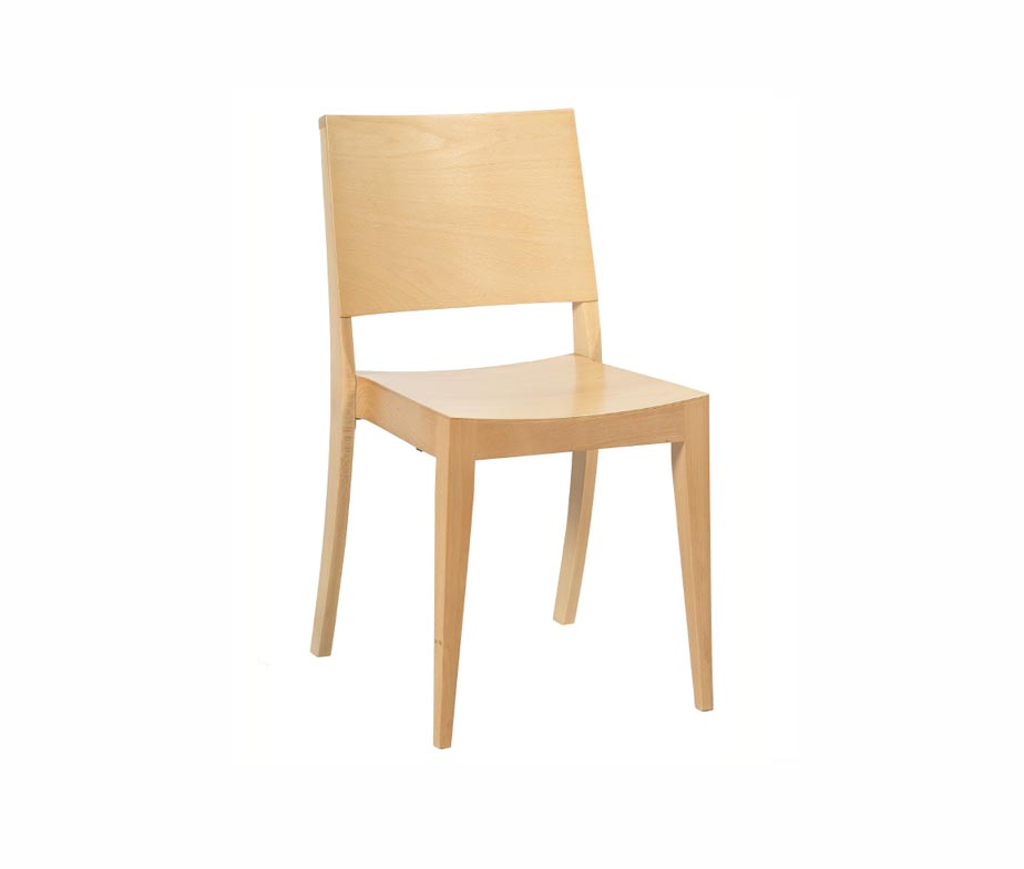 Reuben Stacking Wooden Dining Chair For Commercial Use