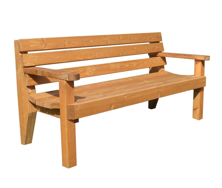 Outdoor Rustic Wooden Benches For Pub Beer Gardens