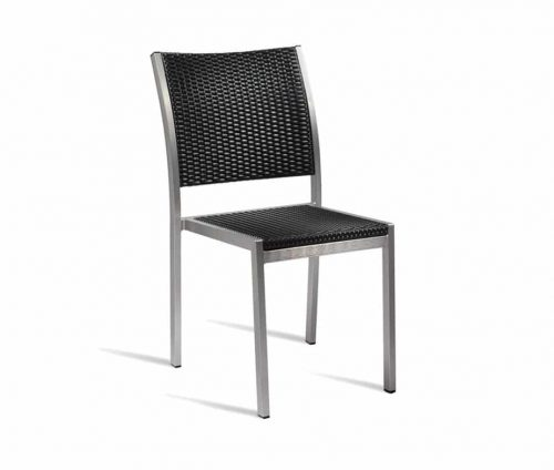 Rustica Outdoor Dining Chair Black