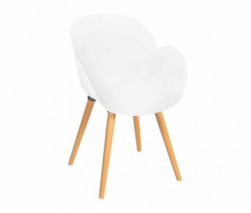 Shoreditch Armchair Frame S White