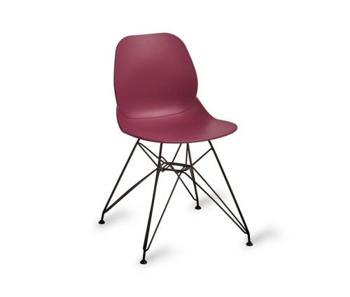 Shoreditch Black Eiffel Chair Purple