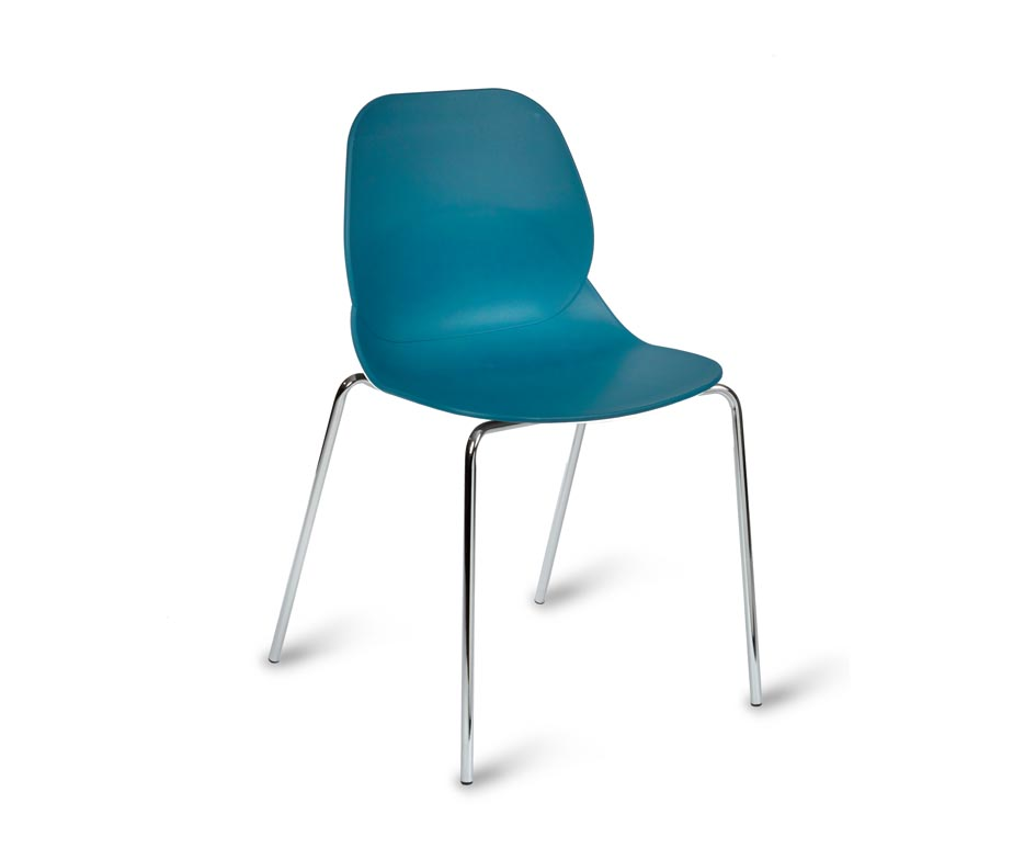 ... Shoreditch Chrome Leg Side Chair Turquoise ...