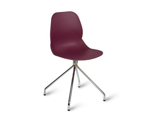 Shoreditch Chrome Spider Chair Purple
