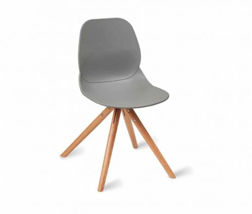 Shoreditch Sidechair Frame P Grey