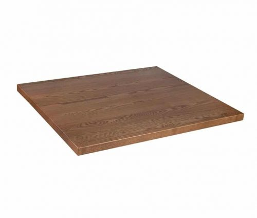 Solid Ash Table Tops Oak Stain - Square