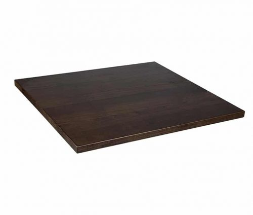 Solid Ash Table Tops Walnut Stain - Square