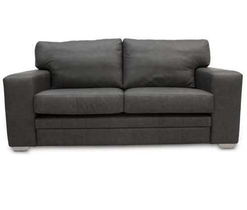 Square Arm Leather Sofa