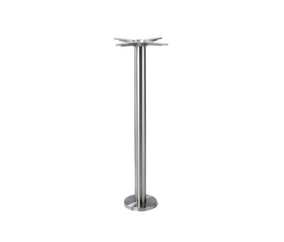 Floor Fixed Stainless Poseur Table Bases