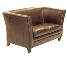 Stanhope Traditional 2 Seater Sofa Brown