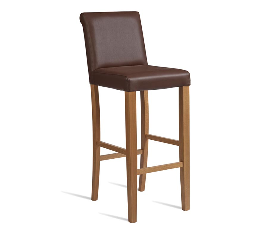 Stratford Bar Stools In Black Cream Or Brown Upholstery