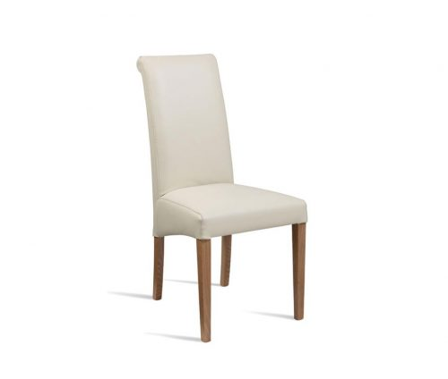Stratford High Back Dining Chair Cream