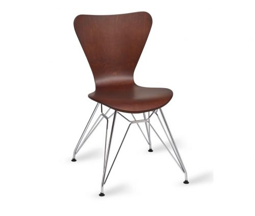 Torino Chrome Eiffel Chair Wenge