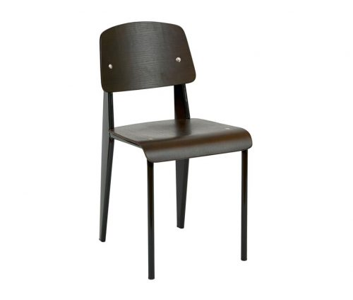Vector Retro Side Chair Walnut Black