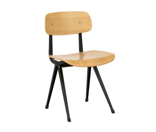 Venturi Side Chairs Natural Black