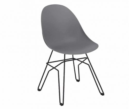 Vivid Side Chair Puzzle Frame Grey