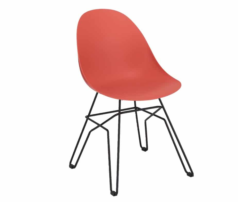 Vivid Side Chair Puzzle Frame Red
