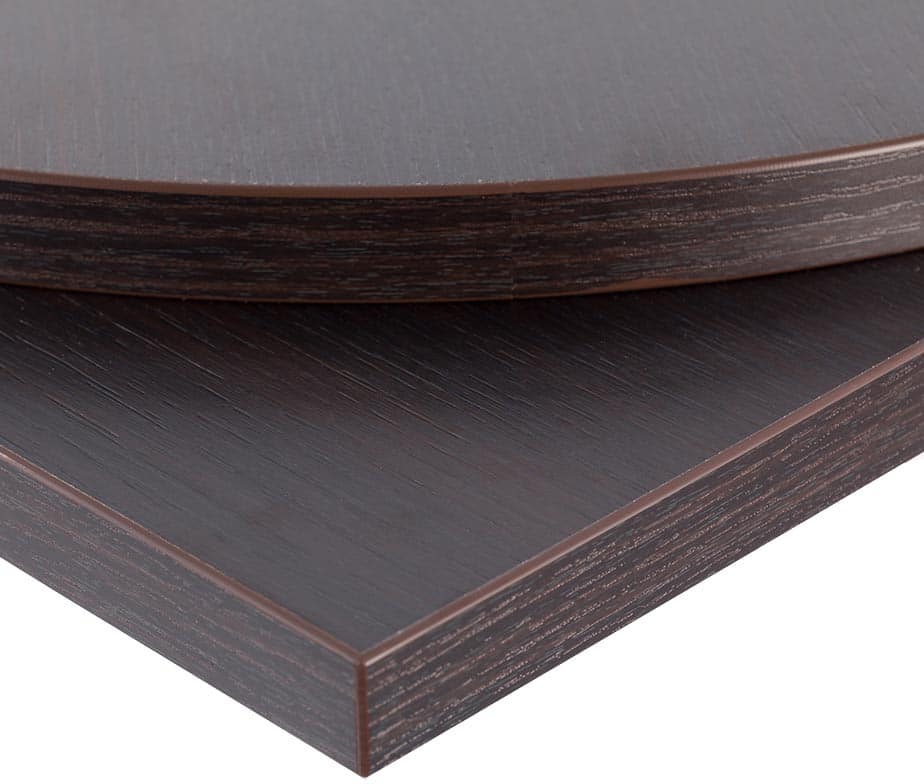 Wenge laminate table tops for restaurants cafes bars pubs for Table basse bar wenge