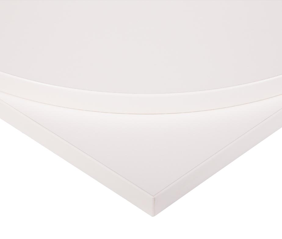 White MFC Commercial Table Tops