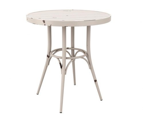 York Outdoor Cafe Tables Round White