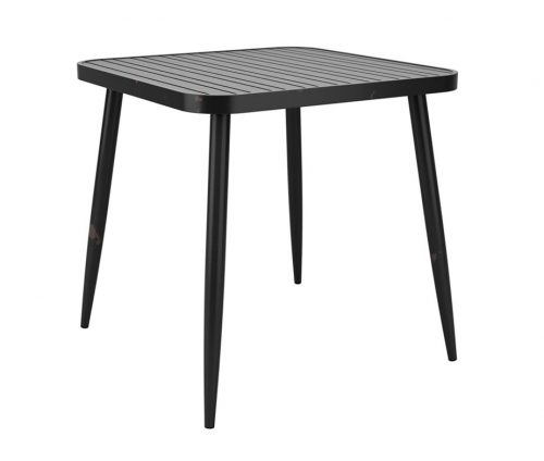 York Outdoor Cafe Tables Square Black