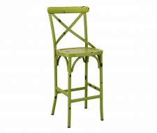 York Vintage Outdoor Bar Stools Green