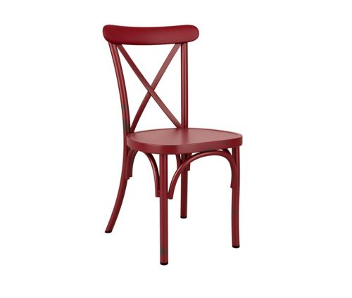 York Vintage Cafe Chairs Red