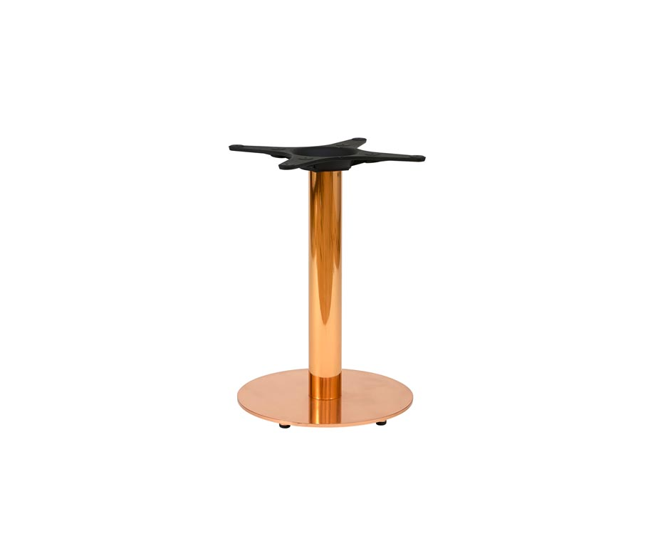 Zeta Round Copper Coffee Table For Commercial Use