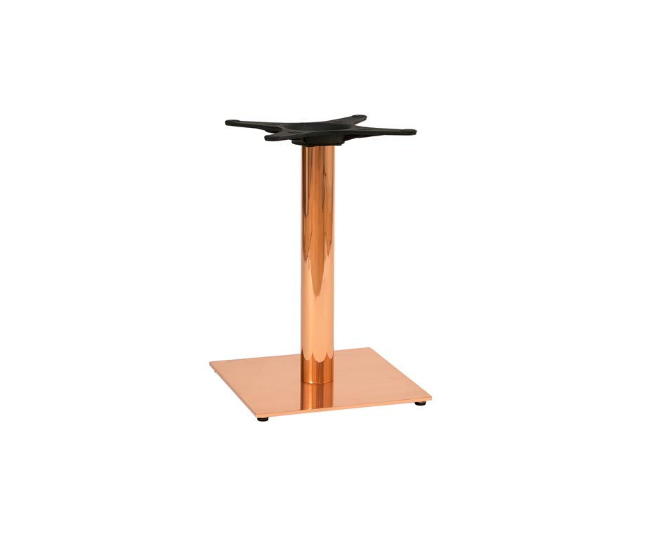 Zeta Square Copper Coffee Table For Bars And Pubs - Square copper coffee table
