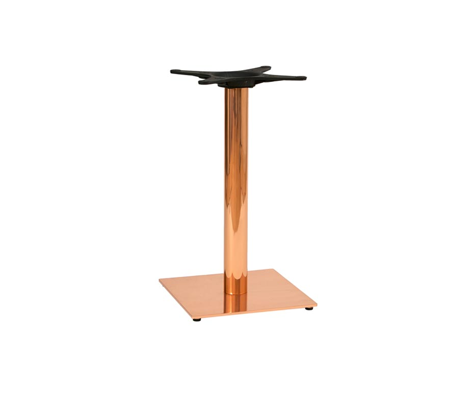 High End Zeta Copper Dining Tables for Restaurants and Bars : zeta copper square restaurant dining table base from www.warnercontractfurniture.co.uk size 924 x 784 jpeg 13kB
