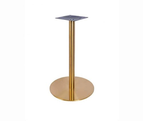 Zeta Small Dining Table Vintage Brass