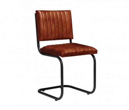 Zeta Vintage Leather Dining Chairs
